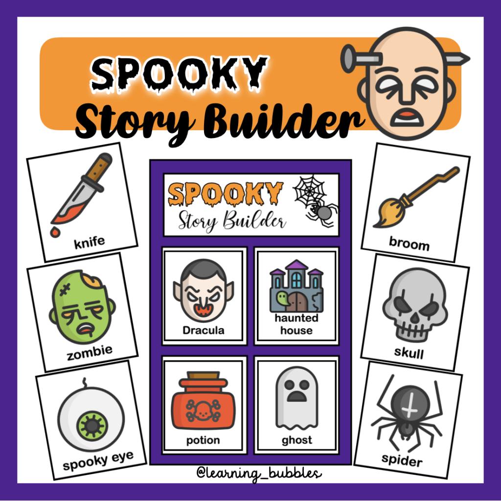 halloween story builder recursos y actividades