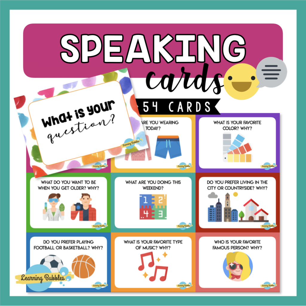 Speaking cards game