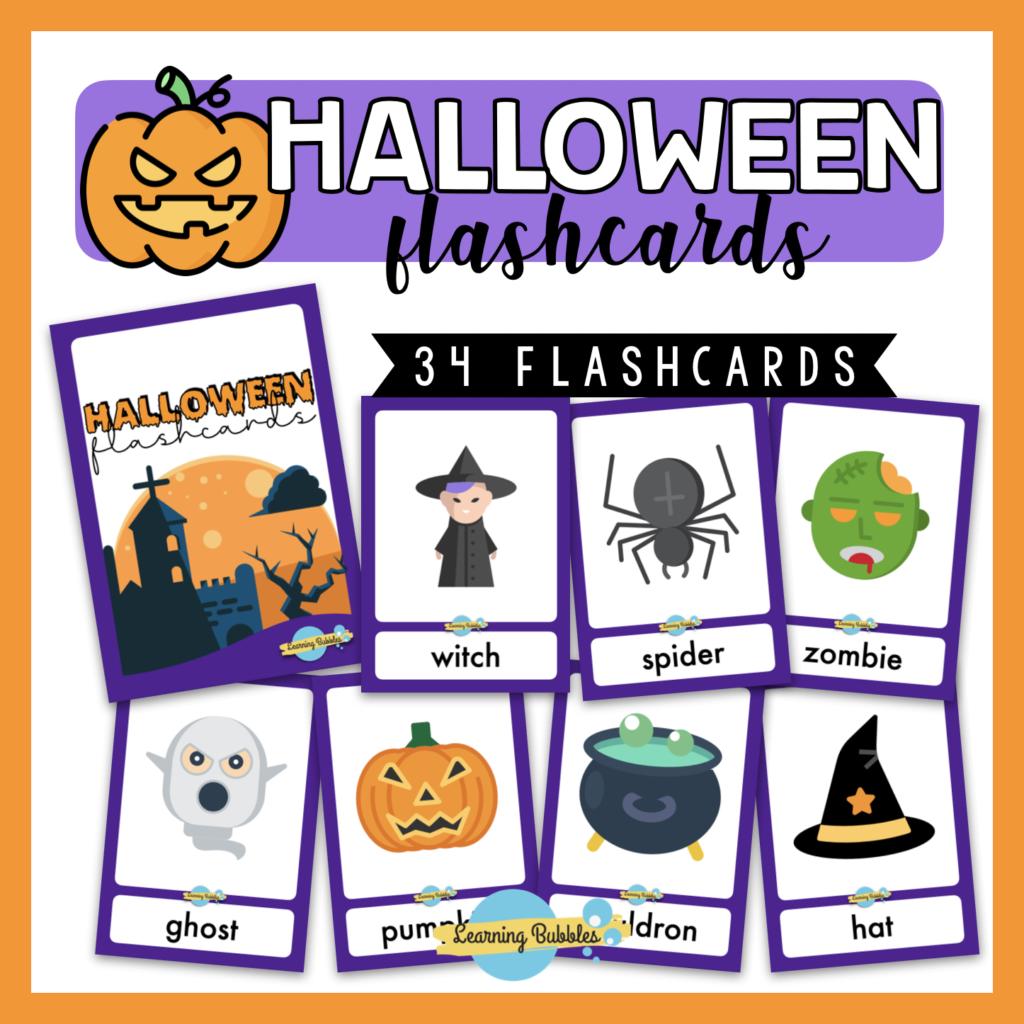 actividades y recursos halloween flashcards