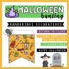 halloween bunting banderines halloween