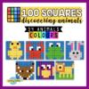 100 squares animals